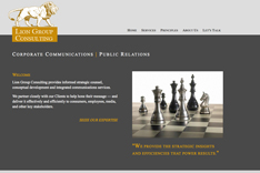website for consulting company